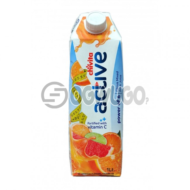 BIG CHIVITA ACTIVE JUICE  POWER OF 6 CITRUS MIXED FRUIT  JUICE 1 LITER PACK SIZE