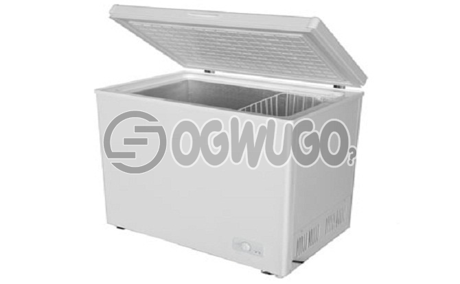 Skyrun Deep Freezer | 200L. Dimensions mm (W*D*H) 940*560*845  200L  Anti-rust protected  Low noise,super freezing  Wide voltage compressor  Extra-density insulation  Counter Balance Hinge: unable to load image