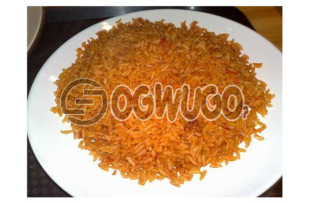 Hot Delicious Spicily Prepared Extra JOLLOF RICE with a very sweet Aroma: unable to load image