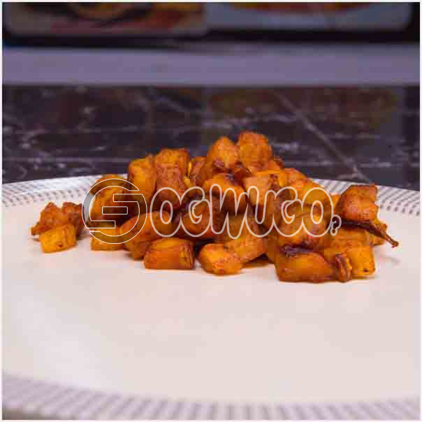 One portion of tasty chopped fried plantain, very delicious and can be eaten with rice or alone: unable to load image