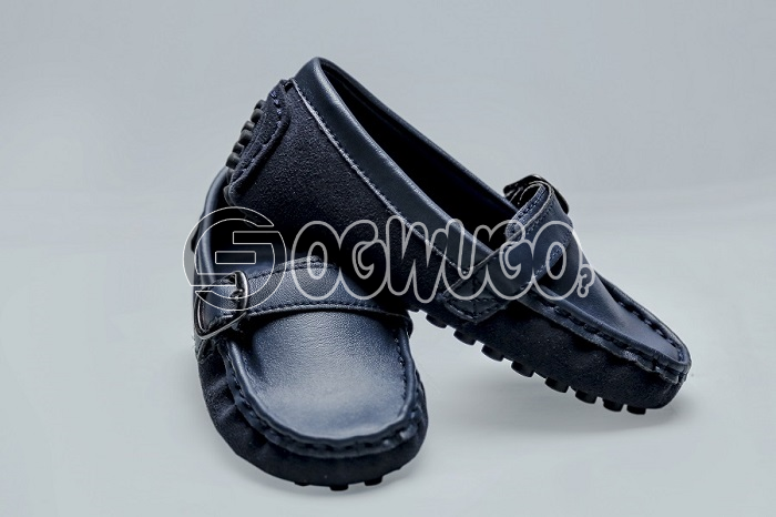 Bear shoe for boys fashion,It is navy blue in color.  with finely made leather that is durable: unable to load image