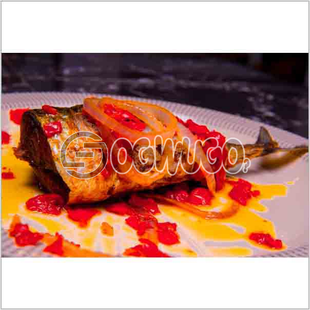 Well garnished and sauced tasty single Fish Tail just the way you like it: unable to load image