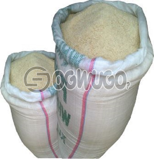 1 bag of garri(50kg) can also be sold per cup very easy to swallow or soak.