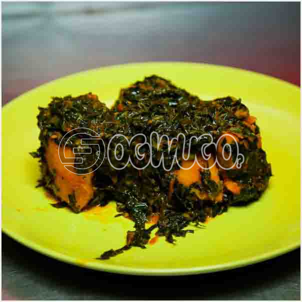 A Portion of Hot Deliciously Prepared Vegetable Yam porridge, Just the perfect launch for you.