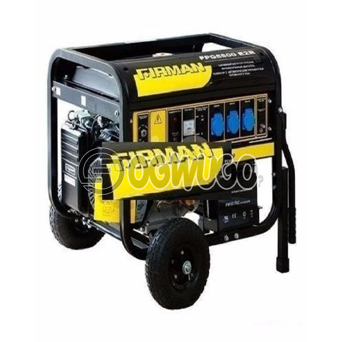 Firman SPG 88000E2, AC Output (220V/50Hz): 6.0kva Max 5.5kva Rated, Fuel Tank Capacity: 25L, Starting System: Recoil+Key.: unable to load image