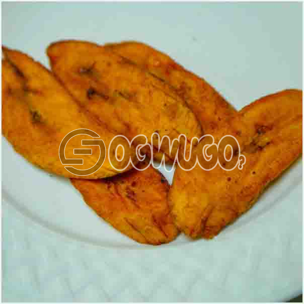 One portion of tasty fried plantain, very delicious and can be eaten with rice or alone