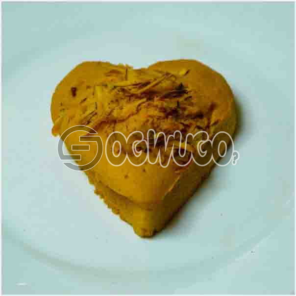 Single Sweet and well baked Heart cake tasty and can be eaten by every one