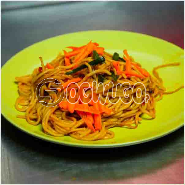Specially prepared spaghetti which can be eaten at any time of the day and enjoyed by every one: unable to load image