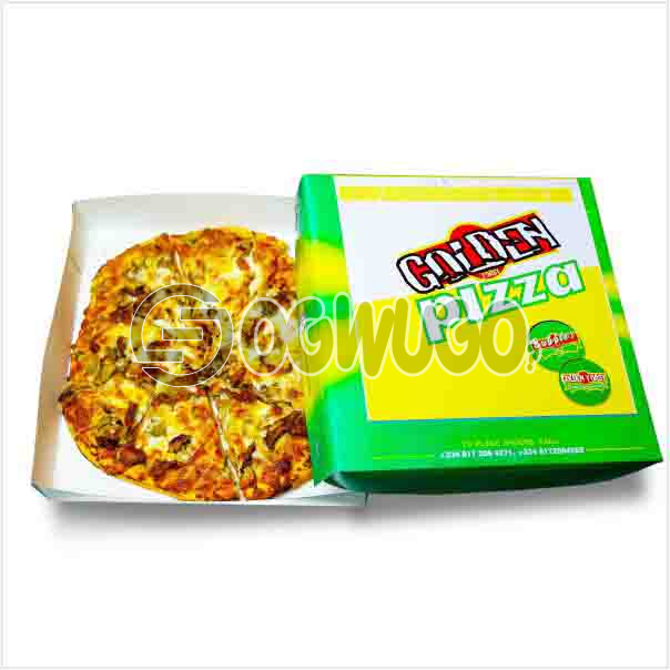 Medium size amazing delicious Hot Pizza Margherita with cheese and more cheese toppings