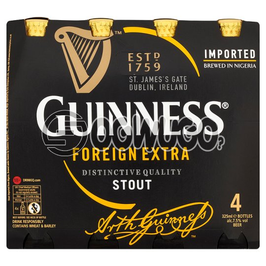 Guinness medium stout bottled beer 45cl bottle size x 18 bottles in a crate: unable to load image