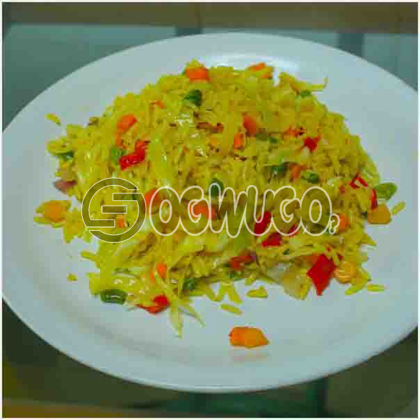 Hot Delicious Spicily Prepared Extra Fried Rice with a very sweet Aroma