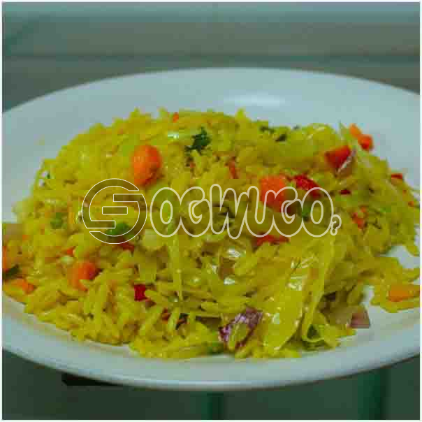 Hot Delicious Spicily Prepared Extra Fried Rice with a very sweet Aroma: unable to load image