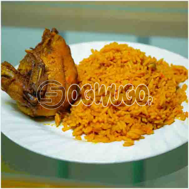 Hot Delicious Tasty Jollof Rice with Grilled Chicken Just the way you want it: unable to load image