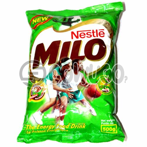 Nestle Milo 500g, Made from the natural goodness of malt, milk and cocoa and is enriched with vitamins and minerals.: unable to load image