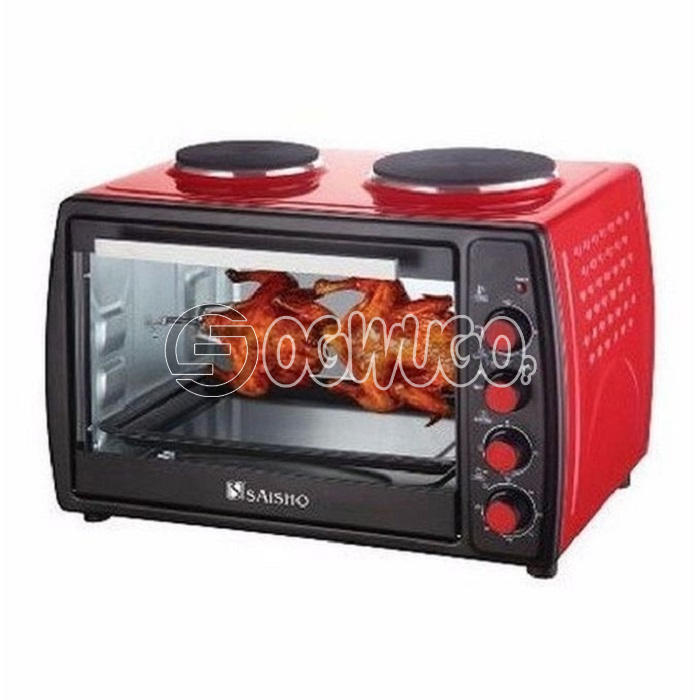Saisho Electric Oven With Double Hot Plate - 50Litres: unable to load image