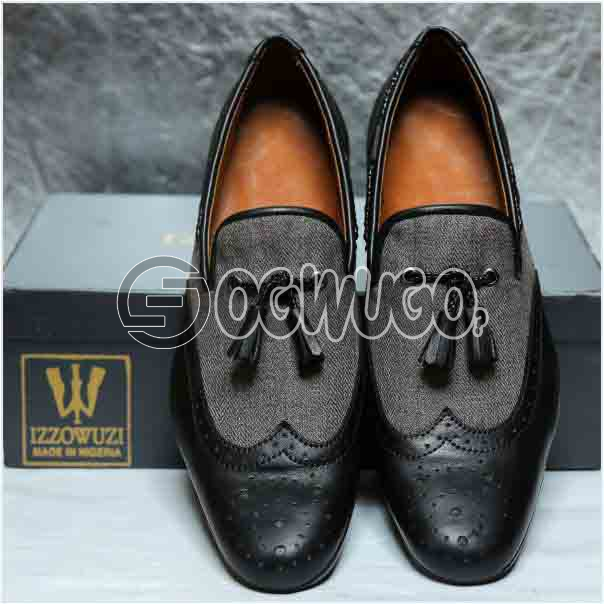 Izzowuzi Brogue Slip-on Tassel Loafers Men's foot wear quality casual foot wear made in Nigeria by I: unable to load image