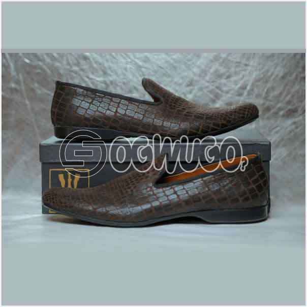Izzowuzi Leather slip-on casual loafers the perfect out-door foot wear made in Nigeria by Izzowuzi