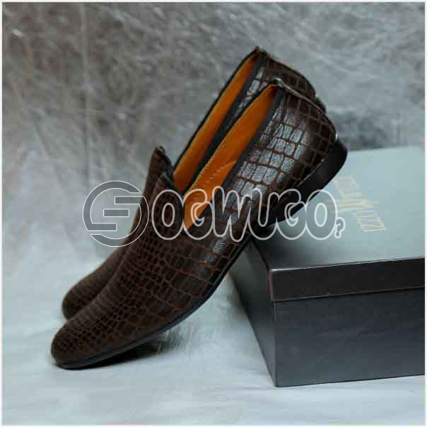 Izzowuzi Leather slip-on casual loafers the perfect out-door foot wear made in Nigeria by Izzowuzi: unable to load image