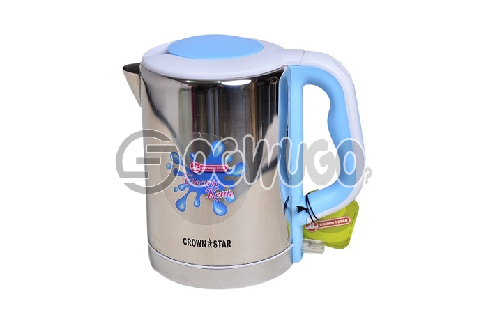 Elegant electric kettle,This kettle is fitted with a concealed element due which it can be used for: unable to load image