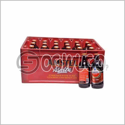 Amstel Malta premium low sugar formulated Drink x 24 bottles in a crate: unable to load image