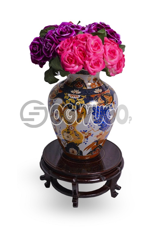 flower vase with wooden stand,it gives you that beautiful home you always dream of.: unable to load image