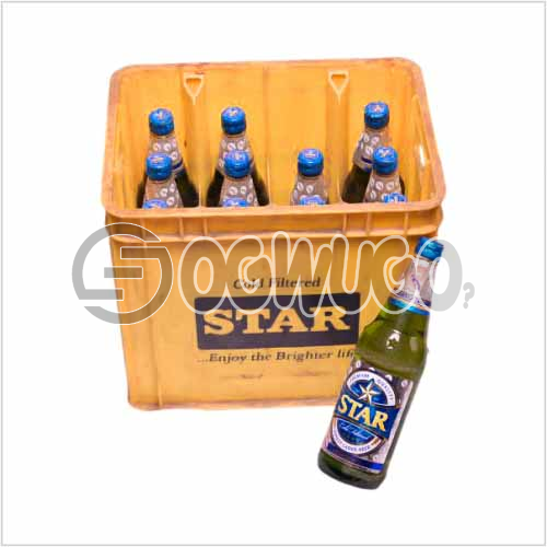 Star Lager Premium Beer 12 bottles in a crate 60cl bottle size Alcohol content 5.1%: unable to load image