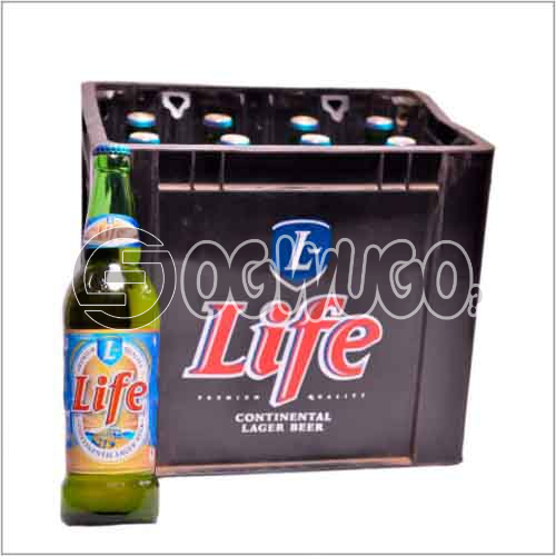 Life Continental Large Premium beer 12 bottles in a crate 60 cl bottle size