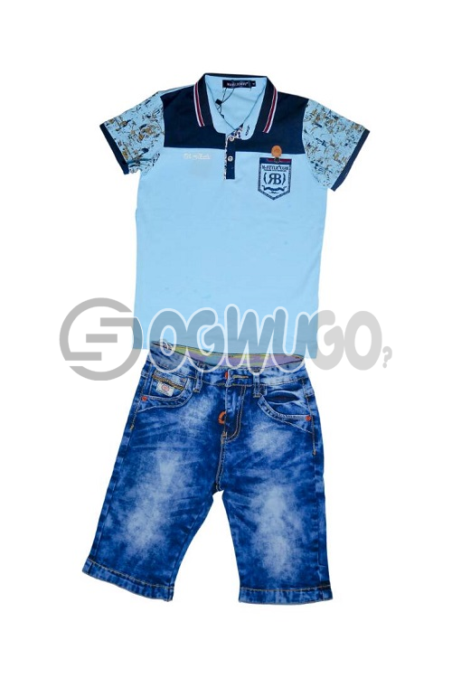 Mars Jones is worn with Bakolism Jean for your cute baby boy.