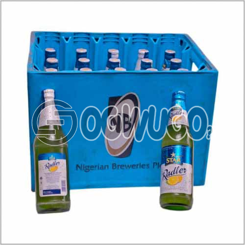 Star Radler Alcoholic Premium Lager Beer 45cl Bottle size x 12 bottles in a crate