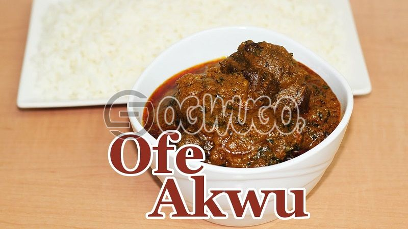 Delicious White Rice with ofe Akwu/ Tomato stew with two (2) meat, please select your favorite stew type. This meal is available from 12am - 4pm daily(RFK)