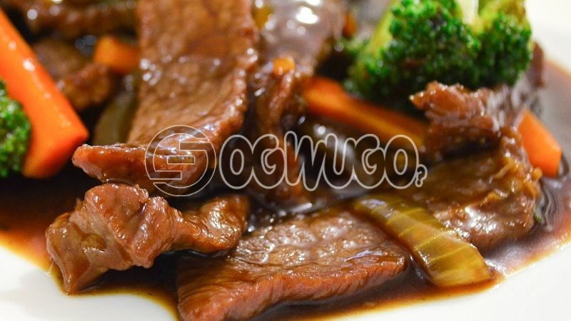 Tasty Beef, Goat meat, or Gizzard. This is a big piece of well garnished meat. Please select your meat type