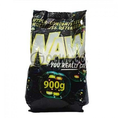 900 grams (900g) WAW powdered washing detergent sachet for fresher and clean white clothes.