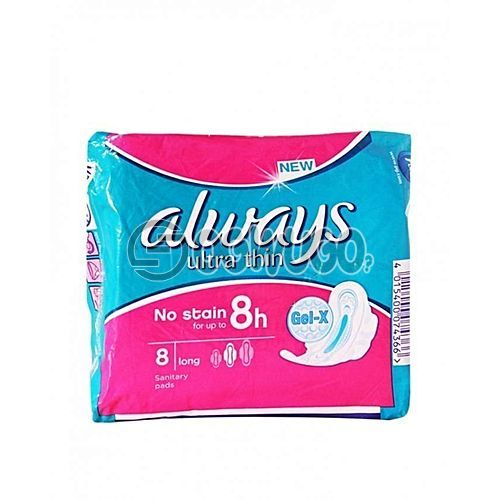New ALWAYS Ultra thin sized normal pack sanitary pads for long lasting hours.