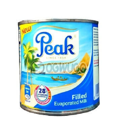 160 grams (160g) Peak filled evaporated liquid milk, highly fortified with over 28 vitamins and minerals.