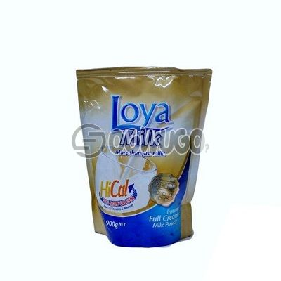 900 grams (900g) Loya milk refill pack, highly nutritious and creamy and extra fortified with vitamins, calcium and other essential minerals.