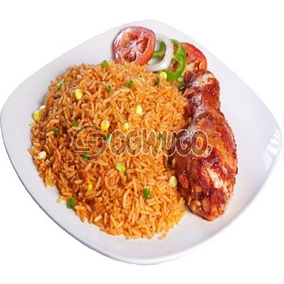 Delicious savory Jollof Rice with Tasty Chicken Just the way you want it.