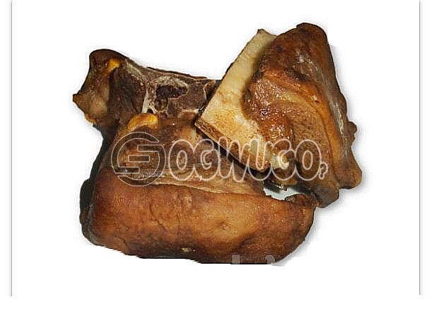 (Goat meat) Single portion of tasty goat meat only which is well sauced and garnished, ready to keep your taste buds