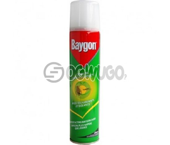 500ml Baygon Insecticide Aerosol spray; best for killing both crawling and flying insects.