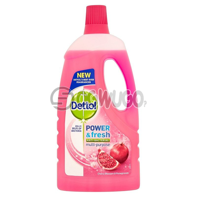 Dettol Antibacterial and fresh multipurpose cleaner; 3x cleaning power penetrates kitchen grease, burnt on food and bathroom dirt.