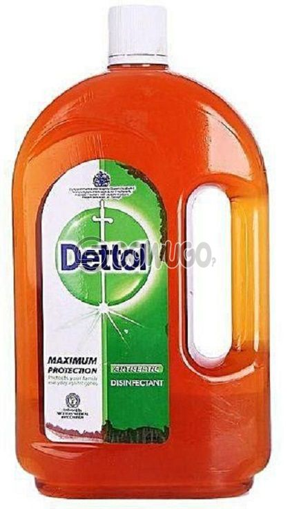 Two litres (2L) Dettol Antiseptic Disinfectant; kills up to 99.9% of germs and is used to disinfect wounds protecting it against infections.