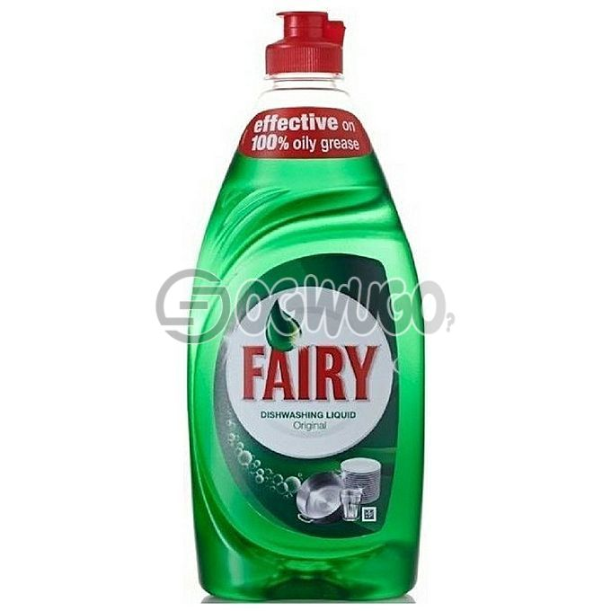 500ml Fairy dishwashing Liquid with ultra long lasting cleaning formula that cuts through grease instantly.