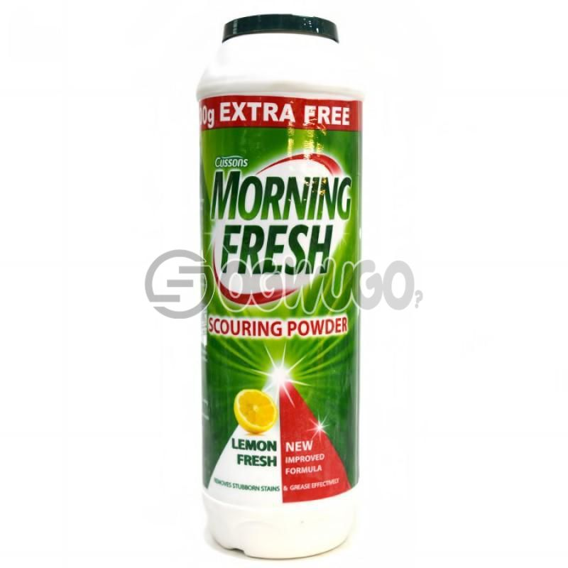 Morning Fresh Scouring Powder with a refreshing lemon fragrance formulated to remove stubborn stains.: unable to load image