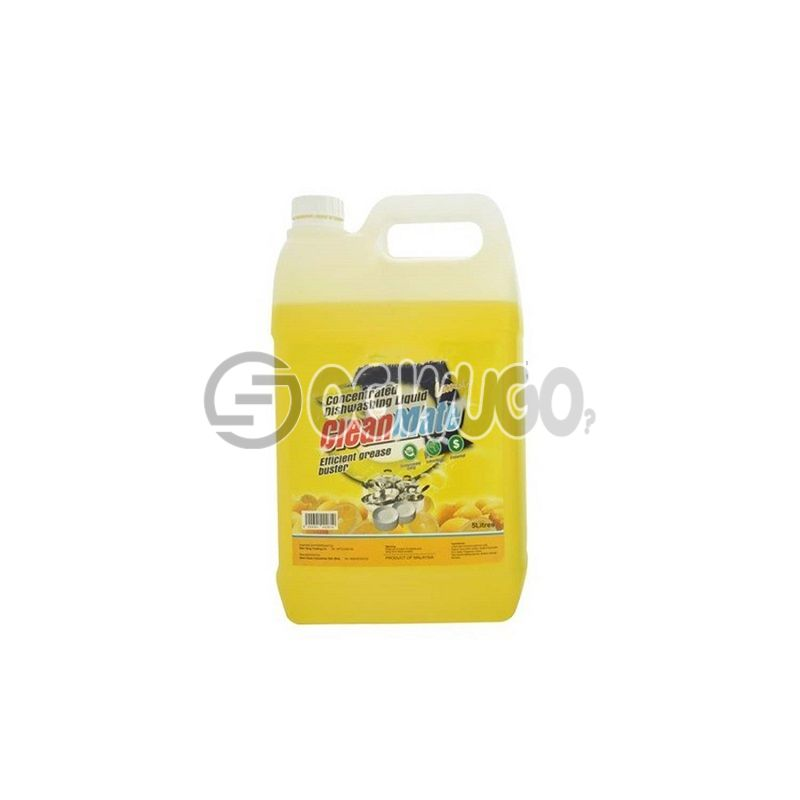 One litre (1L) Clean Mate concentrated dishwashing liquid; efficient for removing grease stains: unable to load image