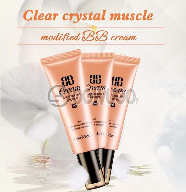 Loumesi bb cc cream face care foundation 7 in one base makeup Perfect Cover Facial Whitening & Concealer & Moisturizing. #3 Deep color. Skin partial skin black, blemish
