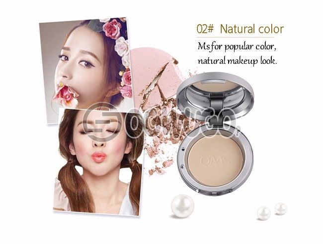 Loumesi Powder Concealer Oil Control Lasting Face Finishing Whitening Makeup Brighten Foundation base make up 18g. #02 yellowish skin.