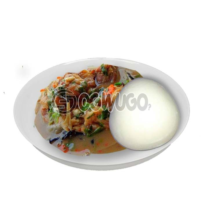 Very delicious, tasty and highly nutritious White soup with either wheat, semo, garri or pounded yam.