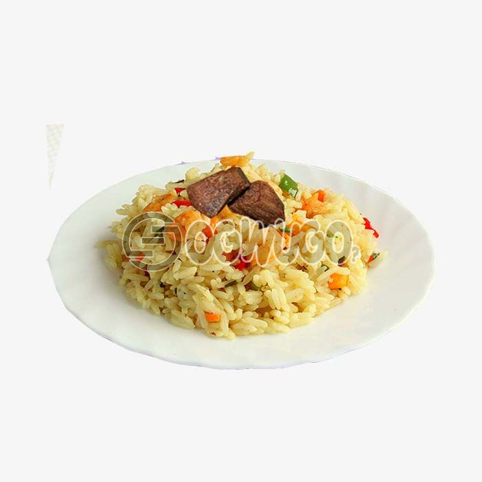 Hot spicy Coconut rice, absolutely tasty and comes with two pieces of