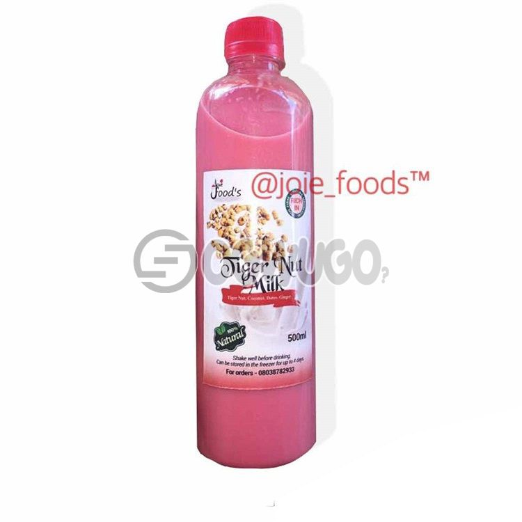 Healthy and nutritious TigerNut Milk drink with beetroot, carrot and apple... Made from natural ingredients.