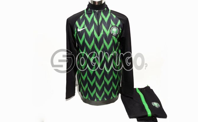 Nigeria's Super Eagles Tracksuit(Green and Black) to the 2018 FIFA World Cup in Russia: unable to load image