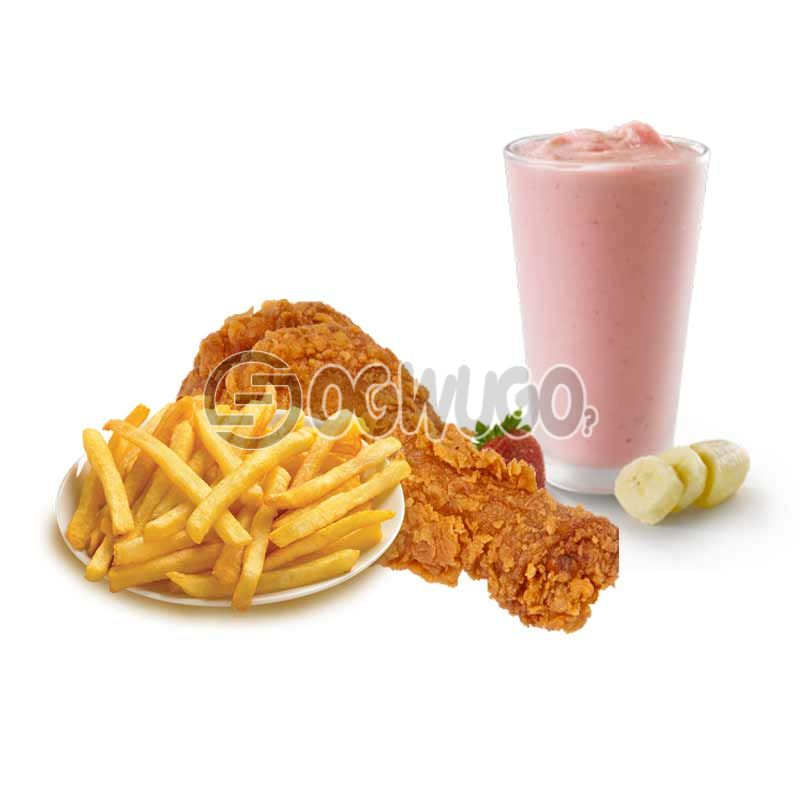 Daisy Life Mega Combo Deal: Smoothie + Chicken + Chips (Available for a limited time). : unable to load image